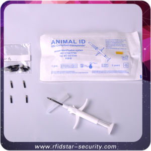 134.2kHz Fdx-B RFID Animal Syringe with Glass Tag