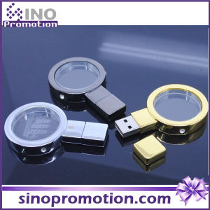 Magnifying Glass Metal Gold and Silver 128GB Flash Drive pictures & photos