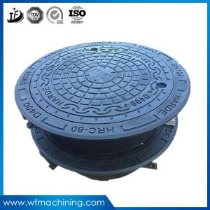 OEM Sand Casting Iron Cast Rubber Drain Sewer Manhole Covers pictures & photos