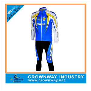 Wholesale Mens Sublimation Print Cycling Jersey Set Cycling Wear pictures & photos