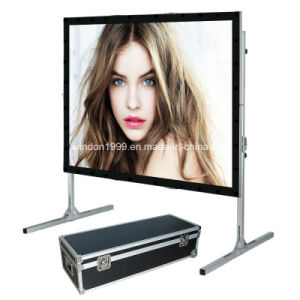 Portable Projection Screen / Quaick Fold Projector Screen / Fast Fold Screen pictures & photos