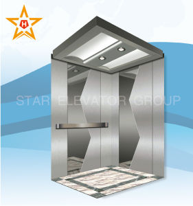 Mirror Etched Mrl Passenger Lift for Residential Buildings