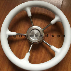 White PU Steering Wheel for Euro Market pictures & photos