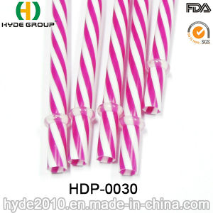 Double Color PP Hard Plastic Drinking Straw with Printing pictures & photos