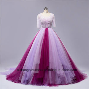 Sexy Mixed Color Beading Backless Wedding Dress pictures & photos