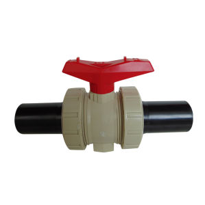 Best Quality Pph Socket Ball Valve+PE Pipe Industrial Plastic Valve pictures & photos