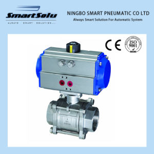 Pneumatic Actuators with Ss 3PC Screwed End Ball Valve pictures & photos
