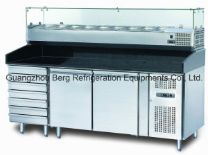 Three Door Commercial Pizza Prep Table Refrigerator with Drawers pictures & photos