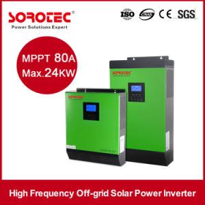 3KVA 24VDC Transformerless Solar AC DC Inverter with Solar Controller pictures & photos