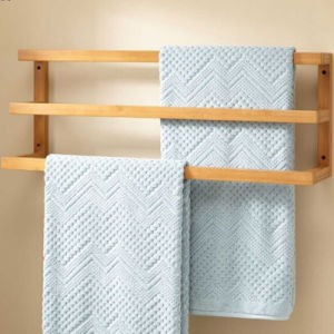 Frameless Bathroom Bamboo Towel Rack pictures & photos
