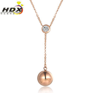 Fashion Jewelry Necklace Stainless Steel Rose Gold Diamond Necklace (hdx1137) pictures & photos