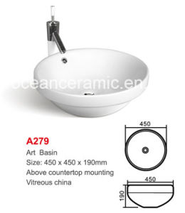 Ceramic Sanitary Ware Washing Art Basin, Cleaning Bowl No. A279 pictures & photos