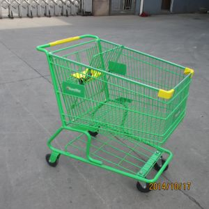 America Style Supermarkte Shopping Handle Trolley Handcart pictures & photos