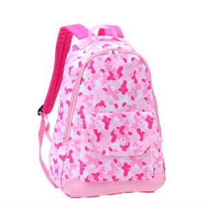 Pink Polyester School Bag School Backpack for Teenagers pictures & photos
