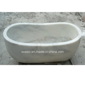 Marble Hot Tub Free Standing Bathtub for Corner Baths pictures & photos