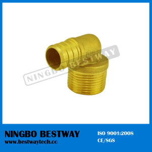 Pex Brass Sliding Fittings Male Elbow pictures & photos