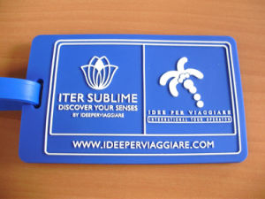Hot Sale Blue Customized 3D Luggage Tag pictures & photos