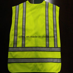 Popular Safety Police Vest Flu Yellow 100%Polyester Knitting Fabric pictures & photos