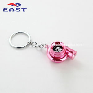 Custom Silver Whistling Shape PU Metal Key Chain pictures & photos