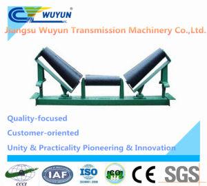 Upper Taper Self-Aligning Conveyor Roller Idler Frame and Belt Conveyor Steel Impact Roller Idler pictures & photos