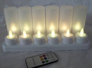 Rechargeable LED Candle Light with 8 Keysremote Control pictures & photos