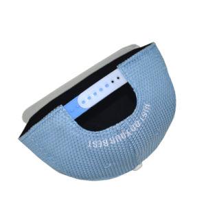 Custom Blue 5 Panels Polyester PU Flat Brim Snapback Cap Hat pictures & photos
