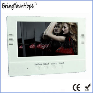 Quick-Play Digital Video Frame with Front Speakers & Buttons (XH-DPF-070X) pictures & photos