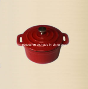 Enamel Cast Iron Mini Pot Size 10cm pictures & photos