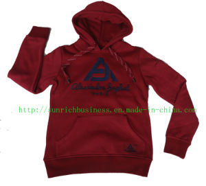 Lady′s or Women′s 65% Cotton 35% Polyester Fleece Hoodie (LH003) pictures & photos