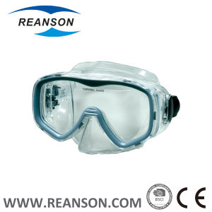Custom New Silicone Diving Mask with Tempered Glass Lens pictures & photos