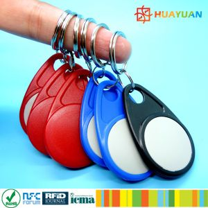 UID laser printing 13.56MHz ABS RFID contactless MIFARE Classic 1K Keyfob keychain pictures & photos