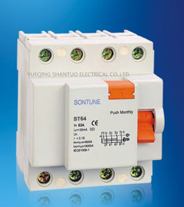 Sontune St60-63A Series RCCB 2p 4p RCCB/Residual Current Circuit Breaker pictures & photos