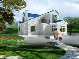 Two Storey Prefab House Prefabricated House Light Gauge Steel Villa pictures & photos