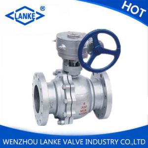 API 6D Carbon Worm Gear Stainless Steel Ball Valve pictures & photos