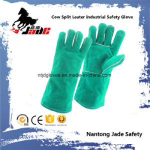 Green Cowhide Split Leather Industrial Safety Welding Hand Work Glove pictures & photos