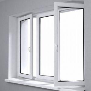 UPVC Window PVC Profile Plastic Window/Sliding Window pictures & photos