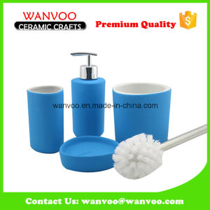 China Ceramic Bath Accessories with Soap Dispenser on Spray Glazed pictures & photos
