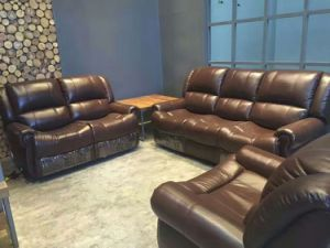 Modern Recliner Sofa for Living Room with Genuine Leather Sofa pictures & photos