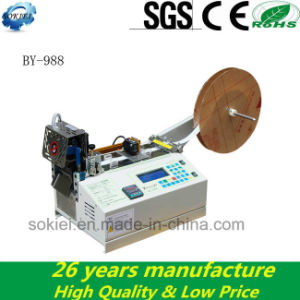 Cold Hot Knife Automatic Fabric Tape Cutting Machine pictures & photos