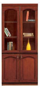 MDF Veneer Glossy Wood Cupboard Office Bookcase Filing Cabinet (NS-SL163) pictures & photos