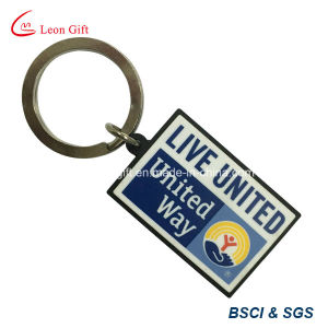 Factory Customized Key Shape PVC Keychain/Keyring pictures & photos