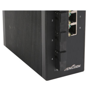 8 Ports Industrial Ethernet Network Switch with 4 Fiber pictures & photos