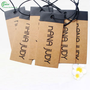 Kraft Paper Clothing Label Tag Manufacturer (KG-PA035) pictures & photos