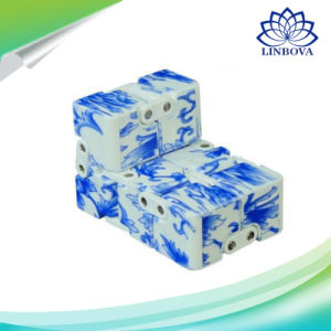 Blue and White Porcelain Fidget Cube Toy Magic Cube Magical Cube Anti Stress Cube pictures & photos