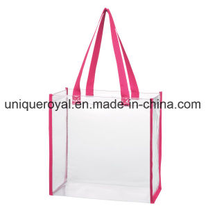 "Clear PVC Tote Bag with 22"" Handles with Spot Clean/Air Dry pictures & photos"