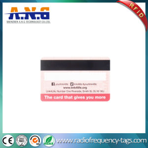 Cmyk Printing RFID Plastic MIFARE Loyalty Card with Barcode pictures & photos