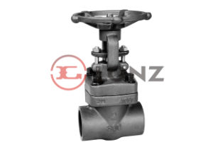 Forged Steel Screw End Gate Valve pictures & photos