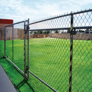 Sports Fields Barrier PVC Coated Chain Link Fence pictures & photos