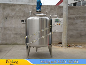 1000L Stainless Steel Mixing Tank with Bottom Scraper Type Agitator pictures & photos