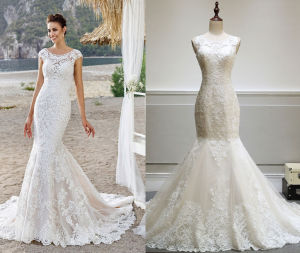 High Quality Fit & Flow Wedding Gown for Bride pictures & photos